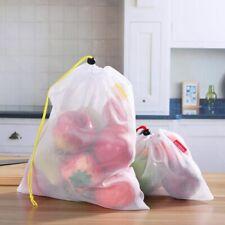 15pcs Mesh Storage Bag Washable ECO Friendly Reusable Fruit Vegetable Drawstring