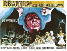 """DRACULA HAS RISEN FROM THE GRAVE repro UK quad poster 30x40"""" Hammer Horror rare"""