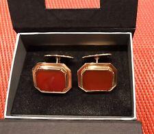 Elegante Manschettenknöpfe 14 Karat 585 Gold Gelbgold Karneol