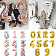 "16"" 32"" 40"" Silver Gold Number Foil Balloon Wedding Celebration Party Decor"