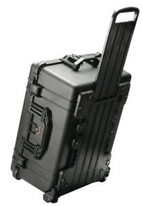 Wheeled Pelican ™ 1560 10 Pistol handgun transport storage case + nameplate