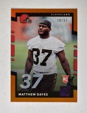 2017 Donruss Jersey Number #359 Matthew Dayes /37 - NM-MT