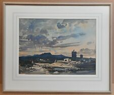 Majorca Sunset. Watercolour by listed artist Claude Muncaster RWS ROI PMSA c1926