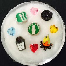 Floating Charm Set~*~Girl Scouts Honor Cookies Campfire~*~Living Locket