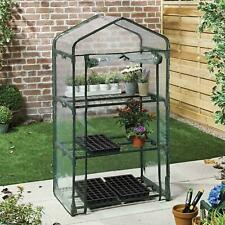 3 Tier Mini Greenhouse PVC Plastic Outdoor Garden Steel Frame Plant Grow House
