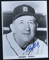 Roger Craig Detroit Tigers Baseball Autographed Signed 8x10 B&W Photo