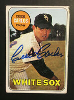 Cisco Carlos White Sox signed 1969 Topps baseball card #54 Auto Autograph