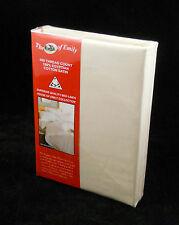 Cream Egyptian Cotton Sateen Flat Sheet Superking Size 400 Thread Count
