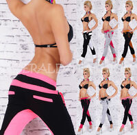 Sexy Pantalón Chándal Deporte Fitness Training Harén Sudaderas S M L XL XXL