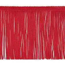 "20 Yard Bolt 6"" Red Chainette Fabric Fringe Lampshade Lamp Costume Trim"
