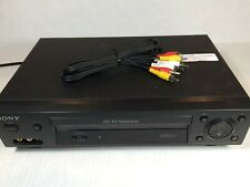 Sony Slv-N500 Vhs Vcr Player, Cleaned, Tested, W/ Av Cable, No Remote