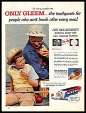 1956 Gleem Toothpaste Vintage PRINT AD Oral Teeth Dental Care Grandfather 1950s