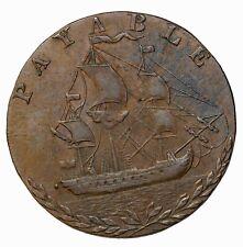 1794 Hampshire Portsea Sailing Ship Halfpenny Conder Token D&H-71