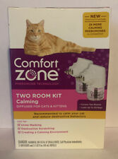 Comfort Zone Two Room Kit Calming Diffuser For Cats & Kittens - New. Free Ship