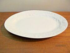 Gibson All White Oval Serving Platter Fruits Embossed Border