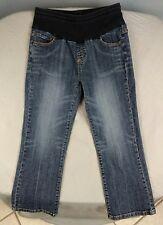 American Star Maternity Cropped Capri Jeans Size Small w/ drawstring