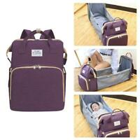 Diaper Bag Mummy Birthing Backpack Travel Portable Multifunction Fold Bed Bags