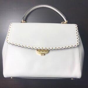 Michael Kors Medium Ava Scalloped Trim Satchel Bag, MSRP $328