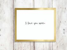 i love you more heart  a4 glossy Print poster gift wall UNFRAMED