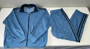 VTG 90's Ralph Lauren Polo Sport Blue Men's Pony Track Suit XL Jacket L Pants