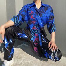 Ladies Blouses Manches Bouffantes Spring Lightning Print Plus Size Blouses Shirt