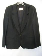 Pendleton  Blazer Sz. 14 Black 100% Wool Single Button Slash Pockets #730 B