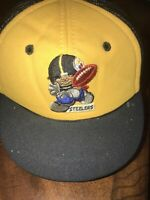 PITTSBURGH STEELERS Kids Hat Trucker Elastic Band Sewn Logo VINTAGE 1970's RARE