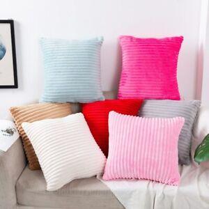 Plush Cushion Cover Decor Striped Cushion Covers Pillow Cases Cushions For Sofa