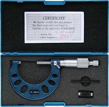 Bügelmessschraube 25-50 mm mit 1 µ Nonius 0,001 DIN 863, mit Prüfmaß, Mikrometer