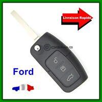 Coque Télécommande Plip Clé Pour Ford 3 Boutons Coffre Focus Fiesta +Lame Vierge