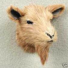 (1) BROWN GOAT Fur Animal Magnet. PROFITS GOES TO OUR ANIMAL RESCUE PROGRAM.