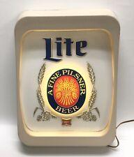 Vintage Miller Lite - Lighted Sign Bar Man Cave 19 X 14� Rare!