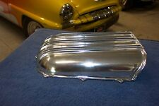 Offy Offenhauser Hood Scoop old style, polished finned aluminum