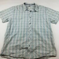 Mens Size XXL Large The North Face Short Sleeve Shirt Button Front Checked