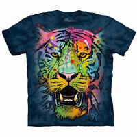 The Mountain Men's Graphic Tee Russo Tiger Face T-shirt Adult Size