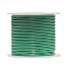 "22 AWG Gauge Solid Hook Up Wire Green 250 ft 0.0253"" UL1007 300 Volts"