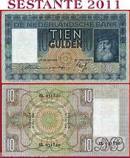 NETHERLANDS  OLANDA - 10 GULDEN  12.6. 1934   - P 49  - BB / F+