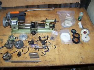 Unimat SL1000 Lathe with Chucks & Accessories