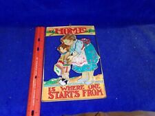 1998 Mary Engelbreit Home Is Where One Starts From Mother Son Wall Hanging