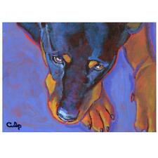 Rottweiler with Paws Print 8x10 by Lynn Culp (Lc026) - Free Shipping
