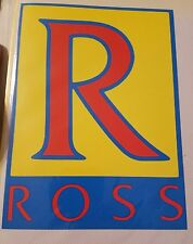 Vintage Ross bicycle large decal bmx ten speed bike bicycles
