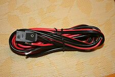 ONE 12 GA Heavy Duty Power Cord, 3 Pin for CB / 10 Meter Radio, Double Fused!