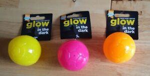 Good Boy - Glow In The Dark - Puppy / Dog Squeaky Balls - x3 Job Lot