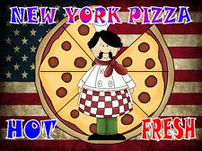 New York SIGNE PANNEAU PUB café pizza design métal porte CUISINE