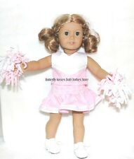 Pink Cheerleader Uniform ~PomPom ~ Shoes~18 in Doll Clothes Fits American Girl