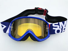 SMITH FUEL V1 MAX BLUE MOTOCROSS MX BIKE GOGGLE with YELLOW TINT LENS