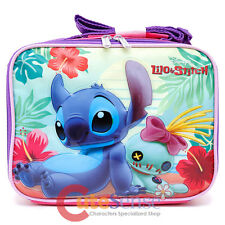 Disney Lilo and Stitch Lunch Bag Insulated School Snack Bag Food Coozi Box Beach