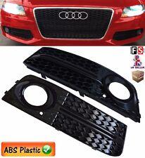 AUDI A4 B8 SE MODEL FOG LIGHT COVER GRILLE AUDI S LINE STYLE GLOSS BLACK 09-11