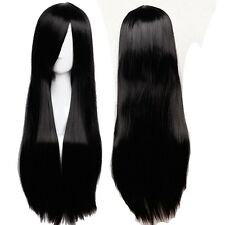 100cm Extra Long Anime Cosplay Full Wig Heat Resistant Hair Halloween Costume ks