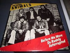 "THE ORIGINAL ANIMALS VINYL SIGNED ERIC BURDON ""BEFORE WE WERE RUDELY INTERRUPTED"